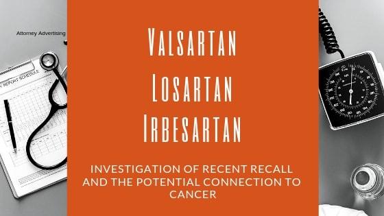 Blood Pressure Drug, Valsartan, Losartan, Irbesartan Recalled